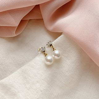 Sweety-zircon brass earrings