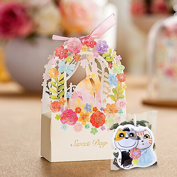 Affectionate Kissing Wedding Stuff Cat Stuffed Tea Customized Handmade Wedding Tea Bag Gift Kitty Styling Creative Tea Bag (50 Mins)