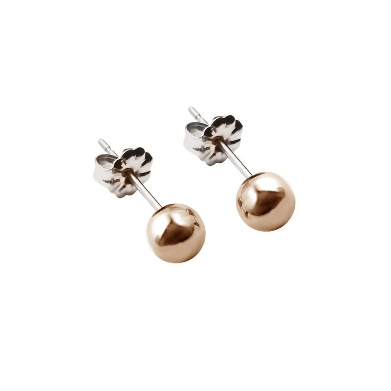 Pure Titanium Earrings-Minimalist style- Rose pink- 5mm
