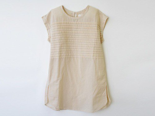 [Botanical Die] Suzuran Dyeing Pin Tuck Sleeveless Tunic 8512-03002-50