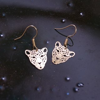 Golden Leopard Earrings