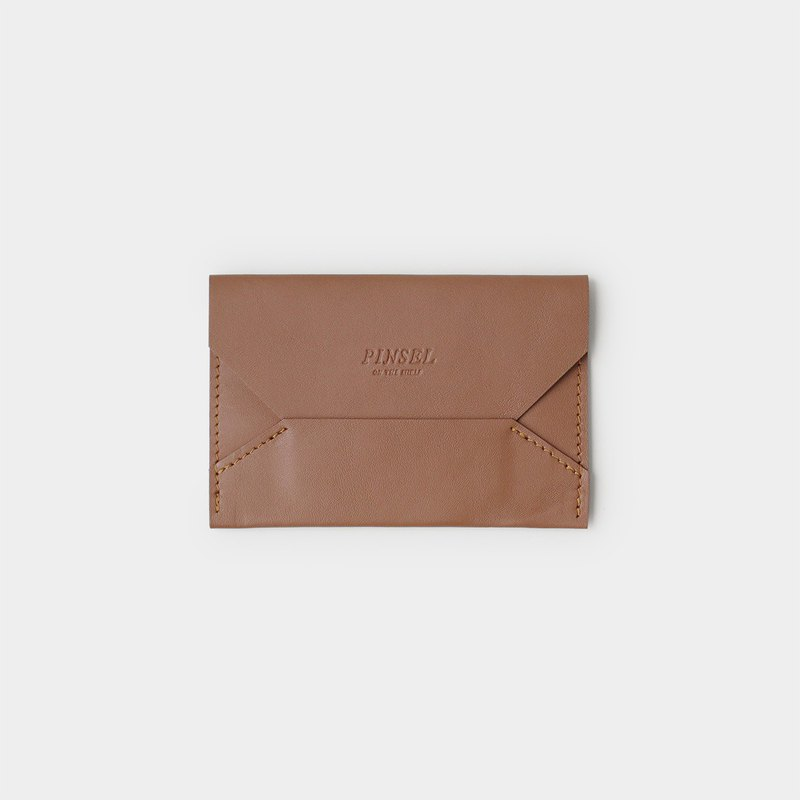 envelope card case : brown