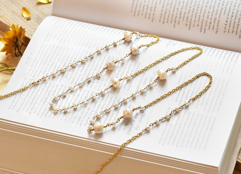 Natural Pearl 14kgf Baroque Long Chain