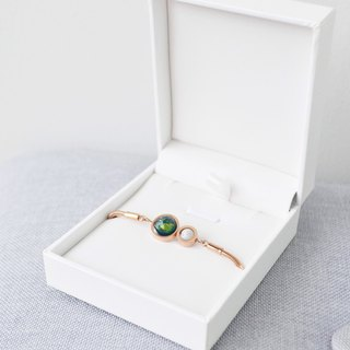 earth moon rose gold bracelet