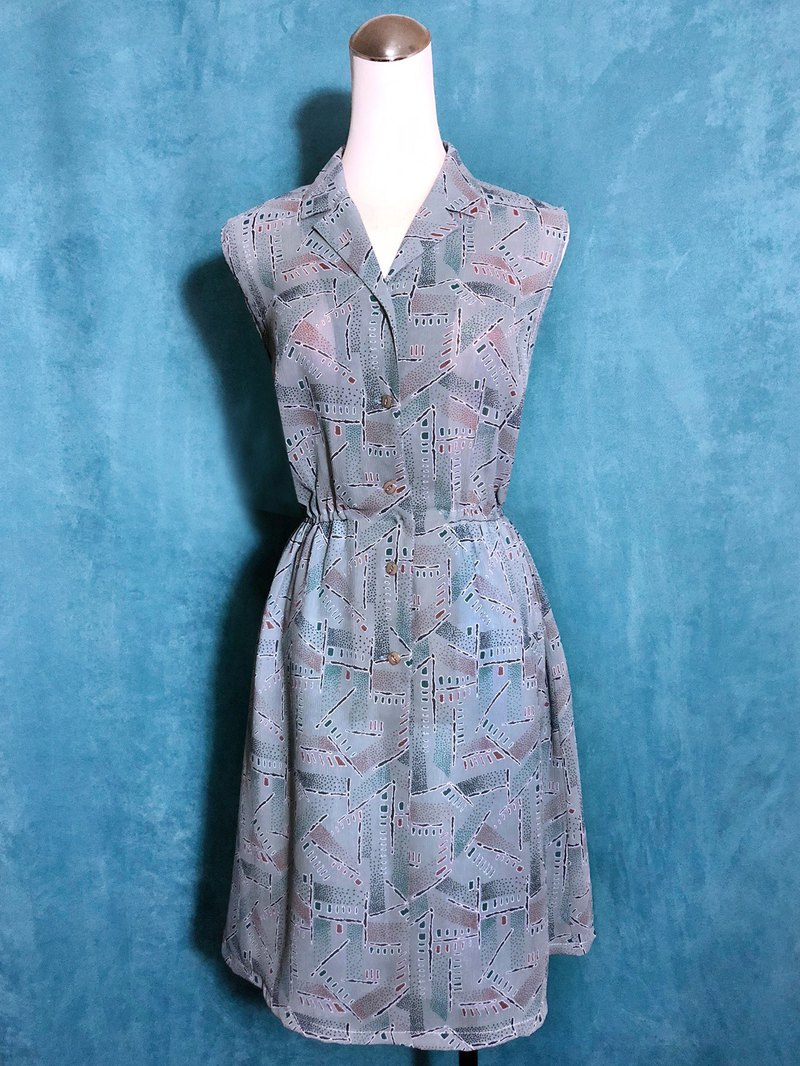 Vintage totem sleeveless vintage dress / bring back VINTAGE