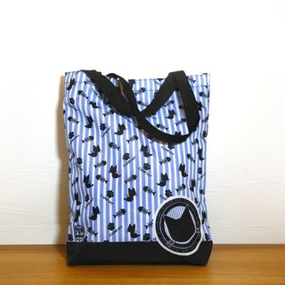 Stripe Series ~ Cat & Dog Waterproof Tote Bag - Single Thin Article