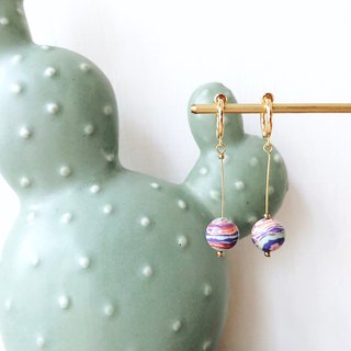 [endorphin] Candy Stone Bead Drop Earrings - Strata