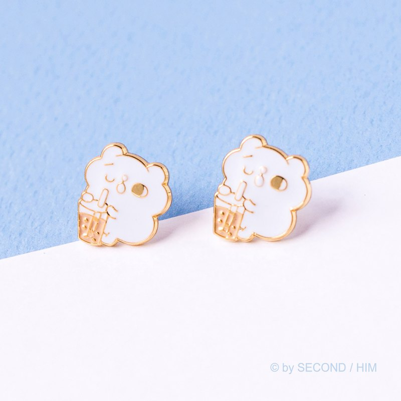 Sweet afternoon ear acupuncture ear clip Shuangshuang cat jewelry series