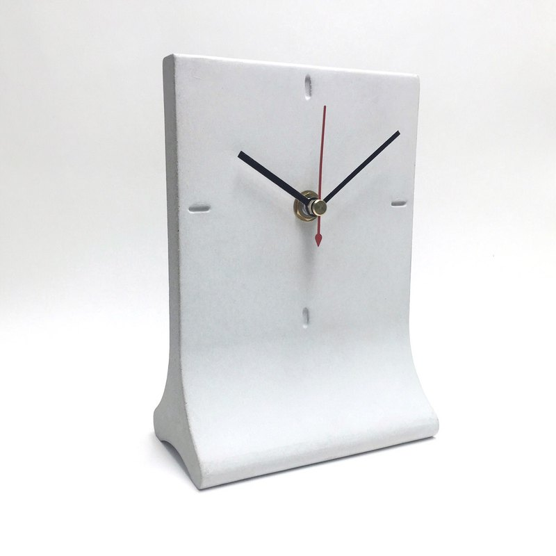 Cement table top clock