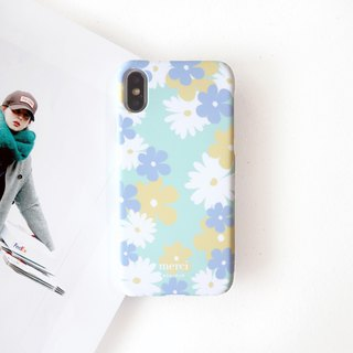 Tiffany green flower phone case