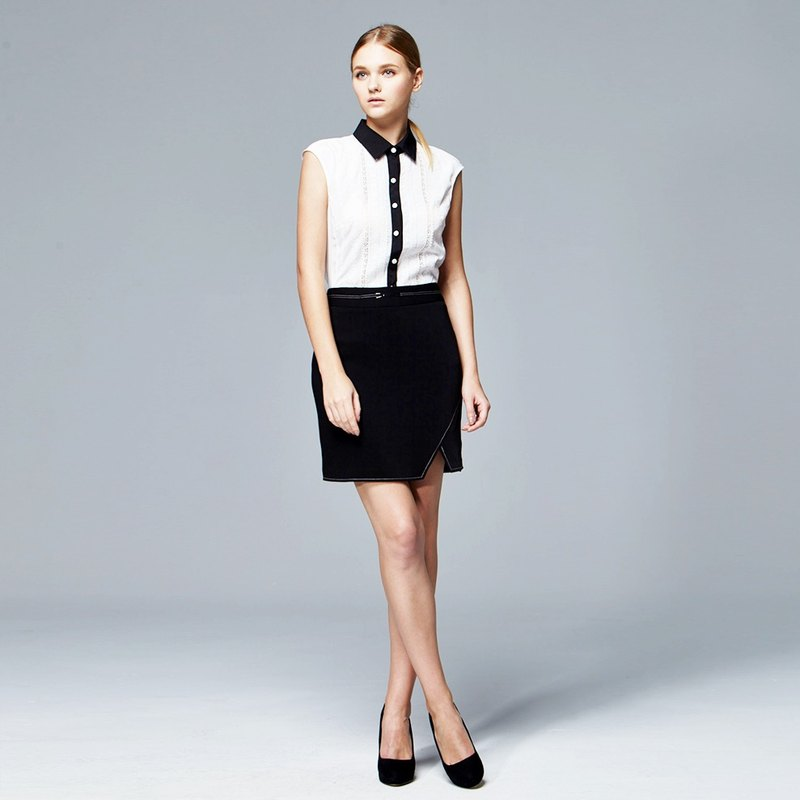 Stylish placketing skirt
