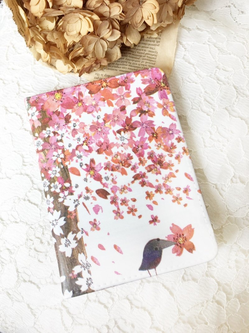 "Hand a gift""Multi-purpose passport""Cherry blossoms/ passport folder travel abroad Valentine's Day birthday Christmas gift"