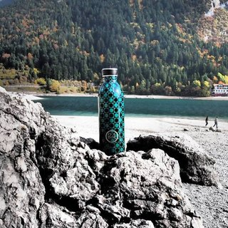 24Bottles Limited Optical Collection FW16 - Urban Bottle Dots - 100g lightweight Stainless Steel Bottle