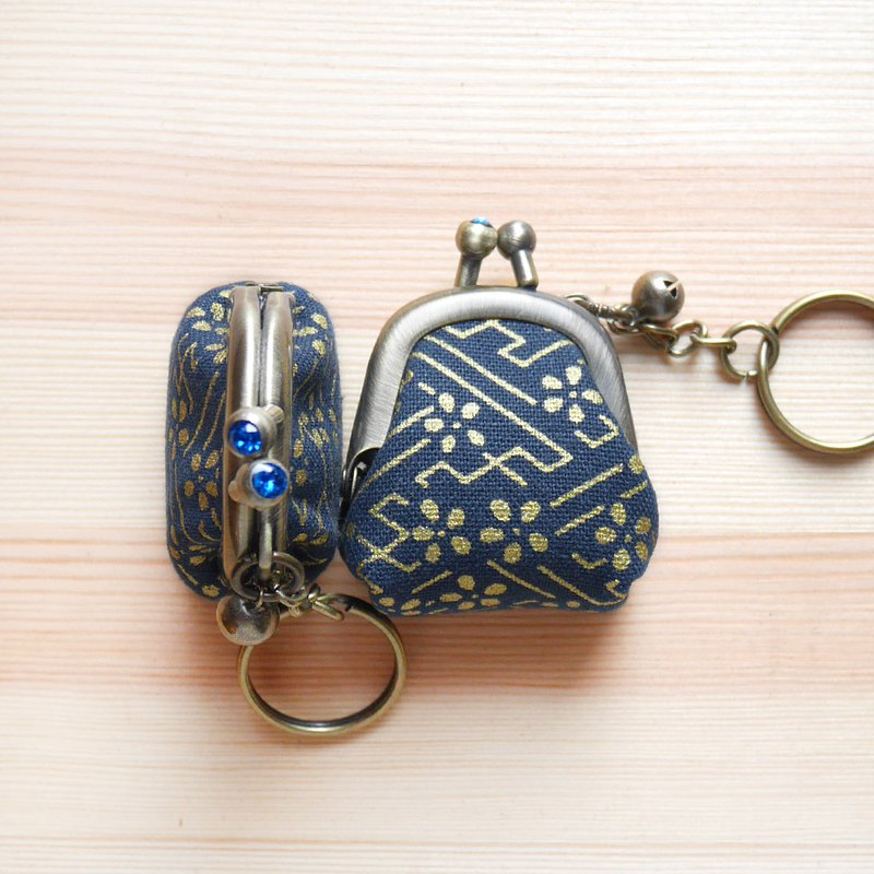 Swarovski rhinestone ukiyo-e gold flower exquisite mouth gold bag / key ring / wedding small things [made in Taiwan]