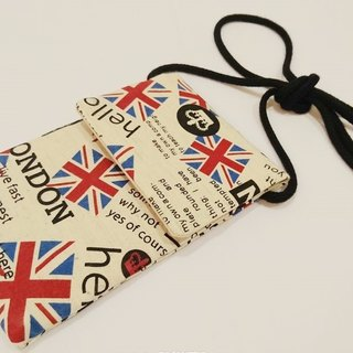 Cotton linen mobile phone case cell phone pocket phone sets side backpack American style