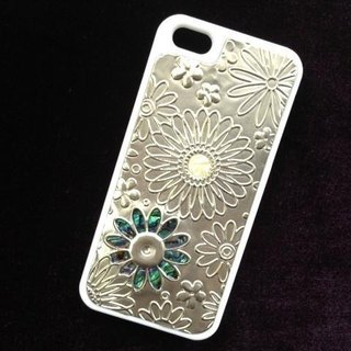 Smart phone case (iphone5/5S flower white)