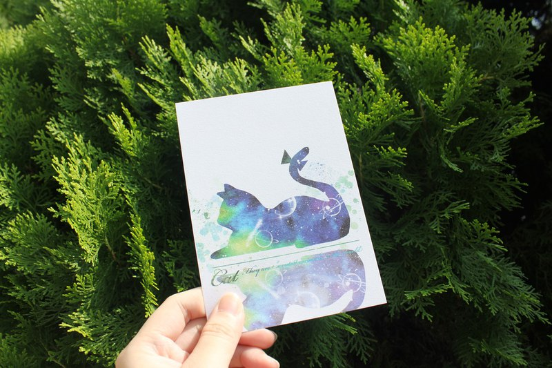watercolor postcard