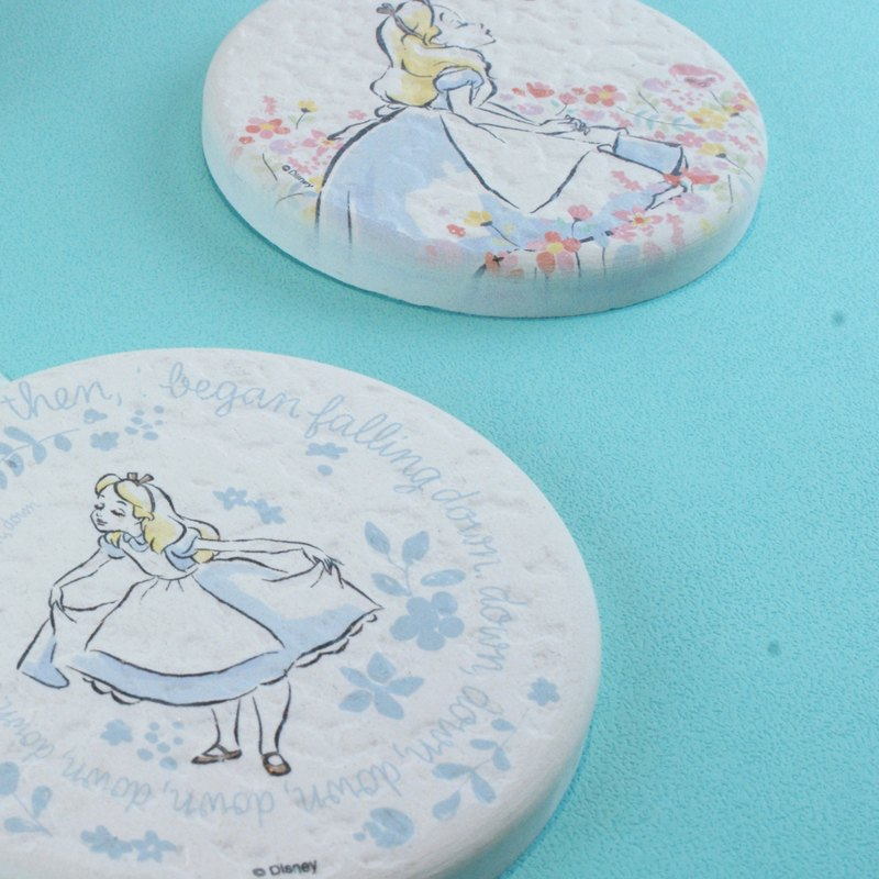 [Valentine's Day] Alice B-Genuine Disney Algae Earth Water Absorbing Round Mat