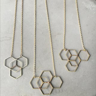 // // Metalworking series single space primaries thin short necklace