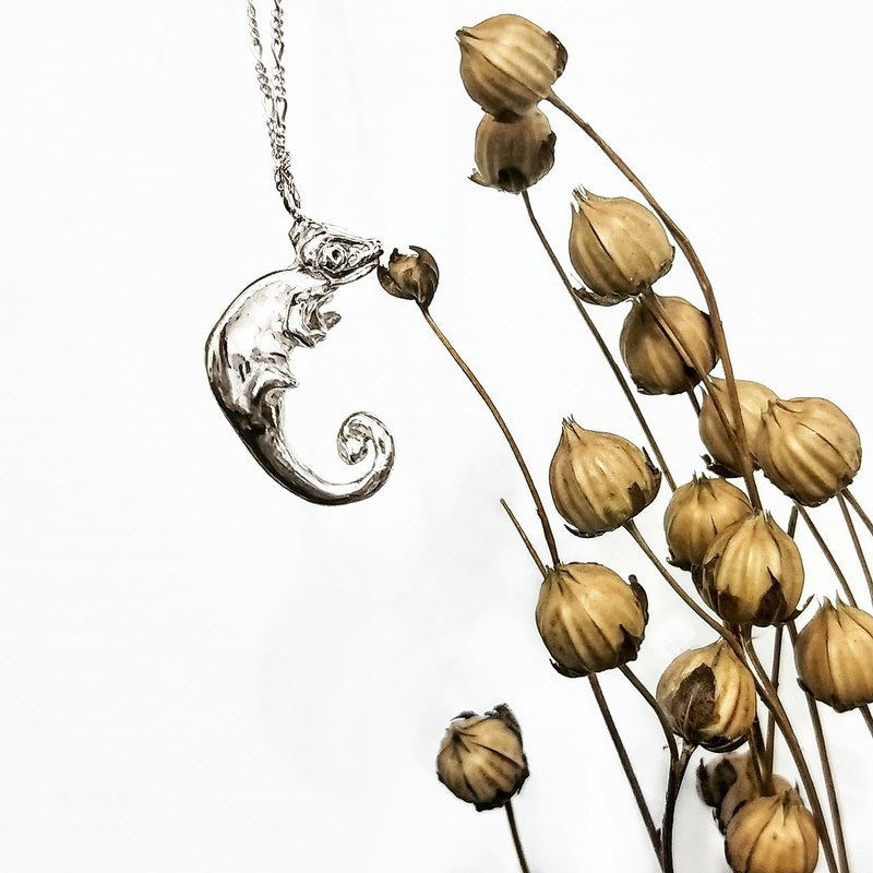 │Limited │ Chameleon • Sterling Silver Necklace • Clavicle Chain • Designer