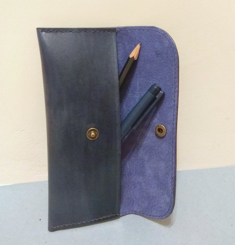 Ink blue simple pencil case