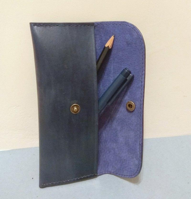墨藍簡約筆袋