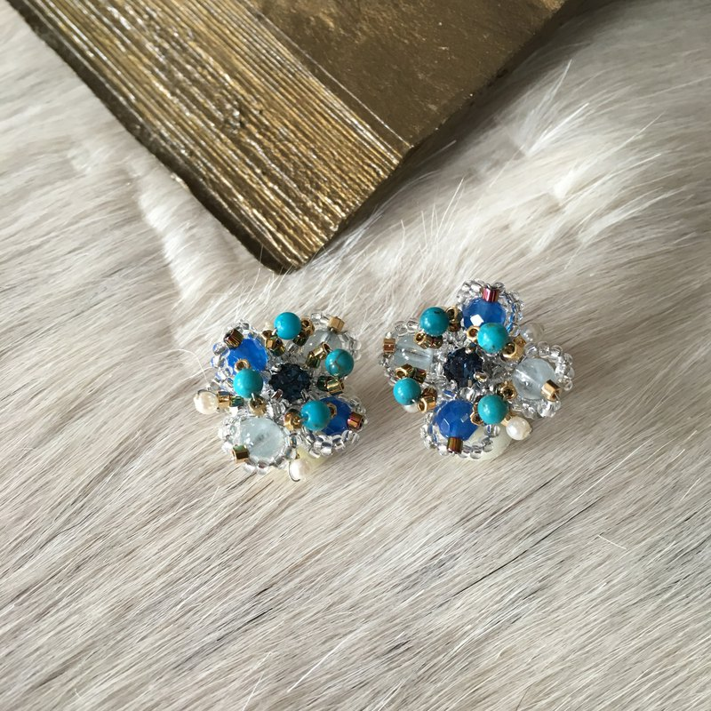 Love blue earrings ~ earring for blue love ~
