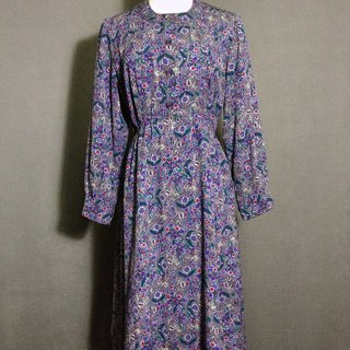 Purple flowers delicate weave antique dress