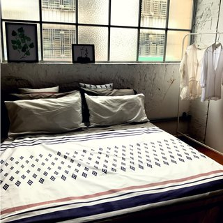 River of Memory_100% organic cotton bed cover_Single