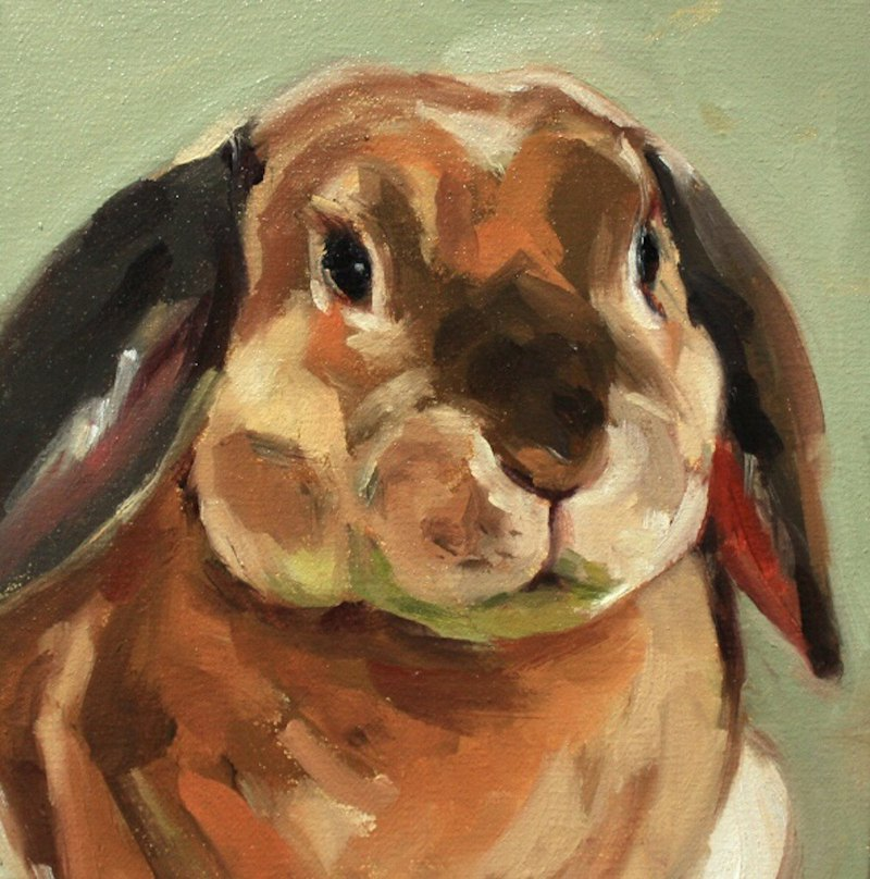 Bella/Pet portrait oil painting