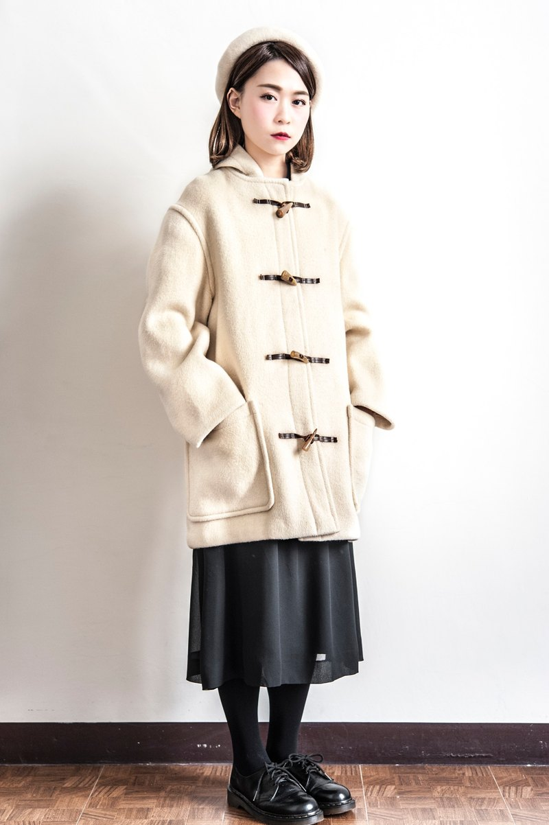 Vintage Gloverall British milk brown vintage wool coat