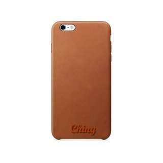 Exclusive free lettering understated luxury import custom leather phone case iPhone6 ​​/ 6s / 6 / 6sPlus / 7 / 7Plus