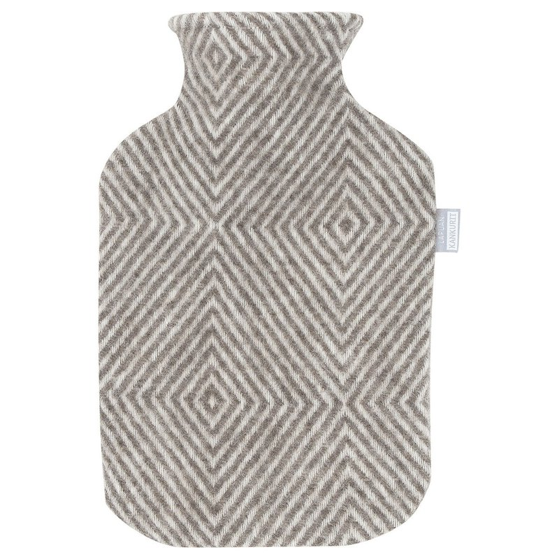 MARIA hot water bottle (light coffee stripes)