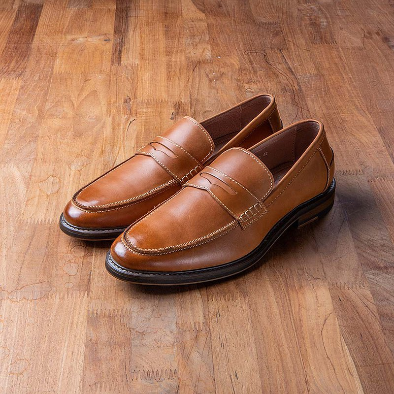 Vanger Elegant Beauty-American Classic Rub Color Penny Loafer Va212 Brown
