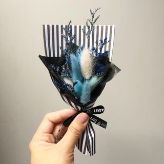 Little love song blue dry rabbittail hand made small bouquet / Valentine gift bouquet birthday gift