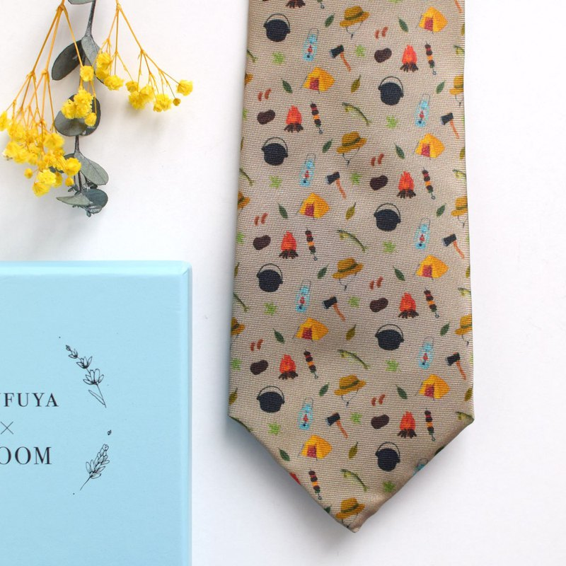 Camping Necktie, camp tie, Ufufuya BLOOM