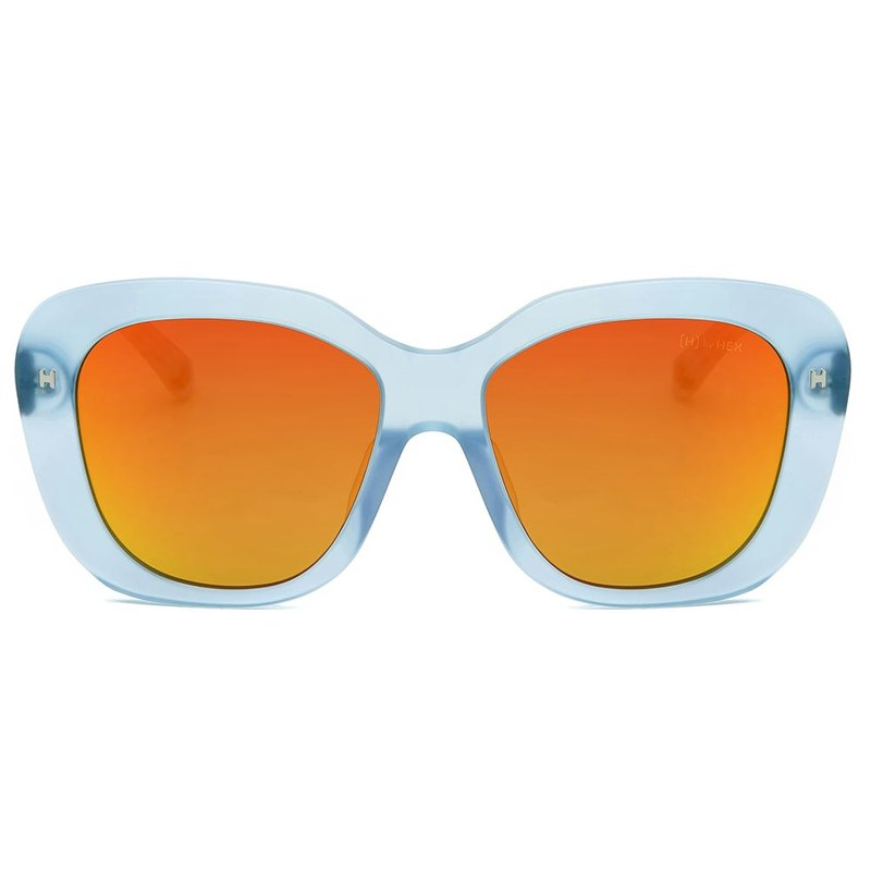 Sunglasses | Sunglasses | Light blue large frame | Made in Taiwan | Framed glasses