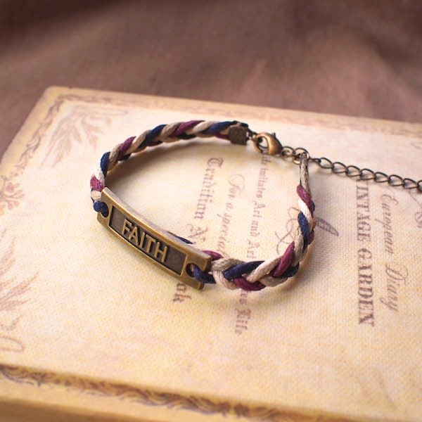 LIULIUYA [FAITH Faith] surfing rope hand made braided bracelet