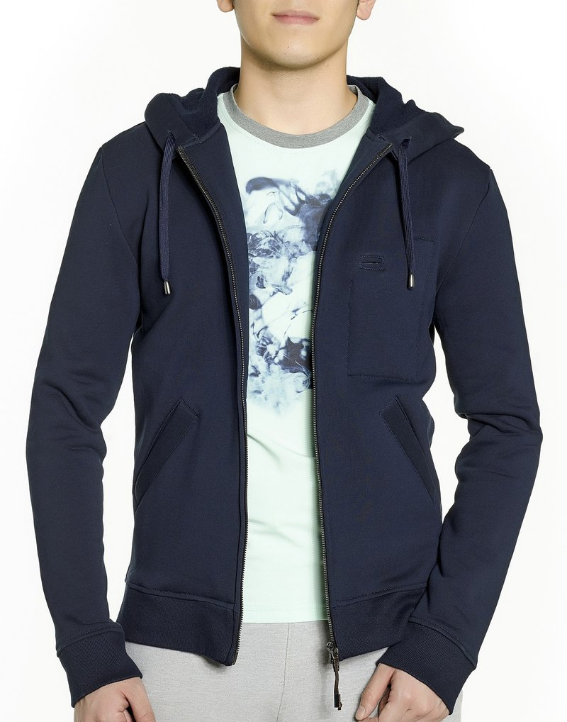 Zip-up Hoodie (Navy Blue)