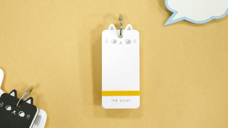 O-CAT-cat ear PP single word card (blank)