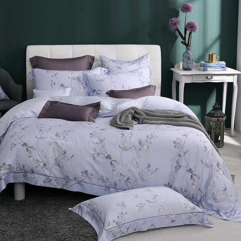 Double size - Dream flower blossom - Tencel dual-use bed pack four-piece group [100% Lysell Tencel]