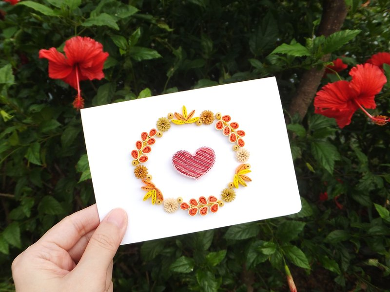 Hand made decorative cards-Autumn Love