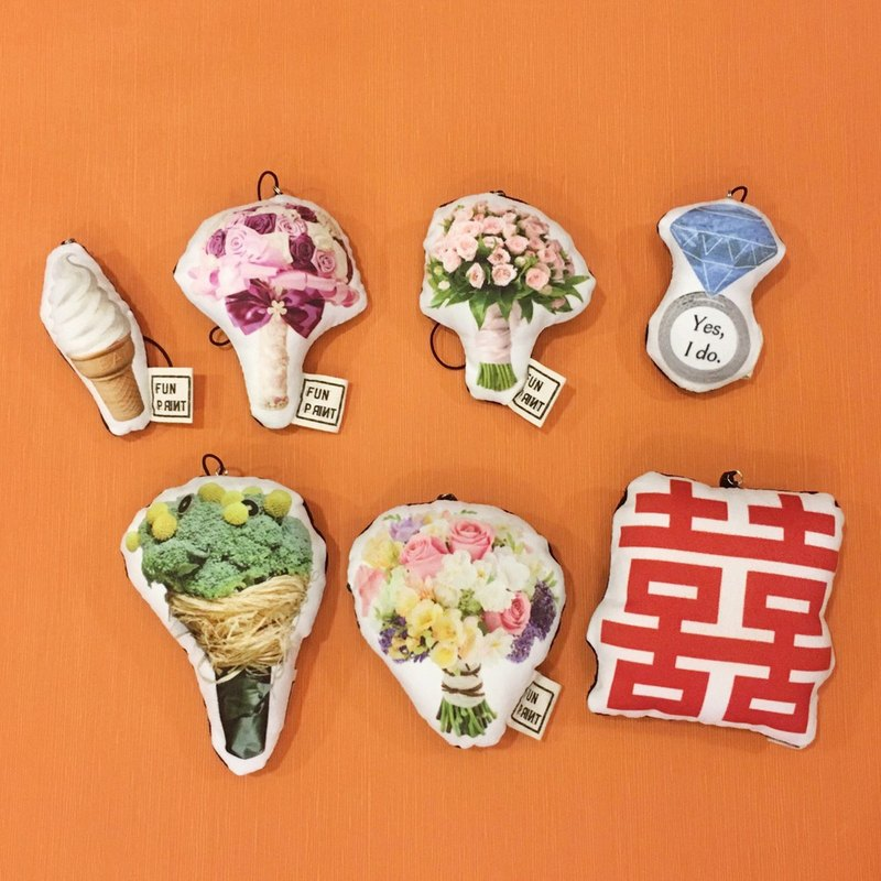 Wedding Favor∣ FunPrint Wedding Series Key Ring/charm/brooch