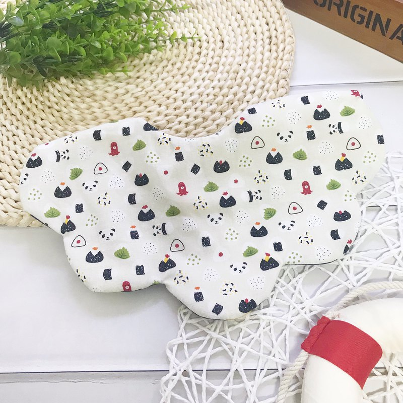 Panda pinch rice ball bibs saliva towel