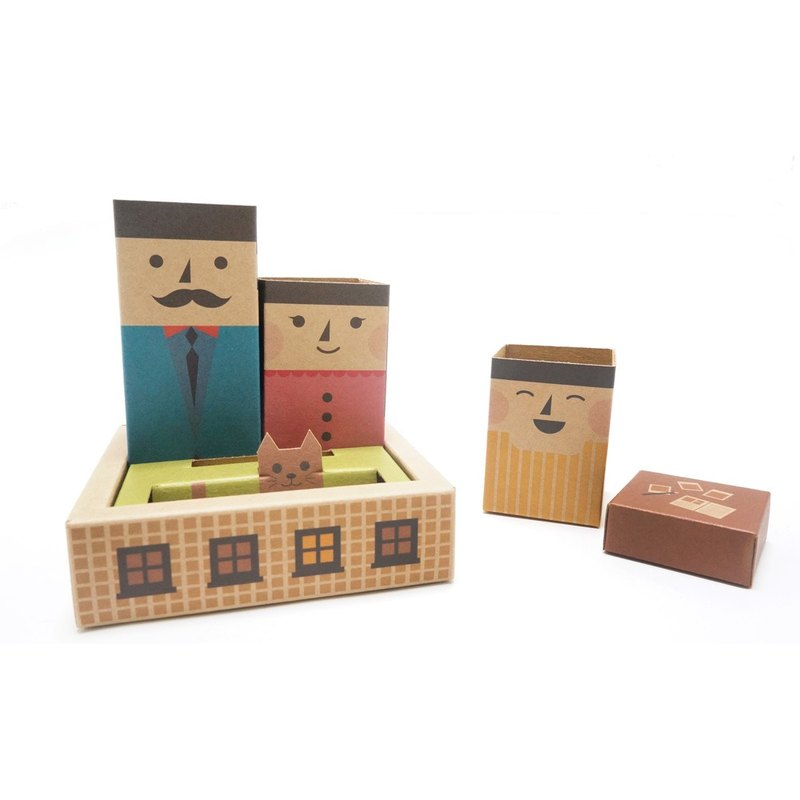 Stationery-Sweet Family My Family Pen Holder Set | Stationery Note Paper Paperback Needle
