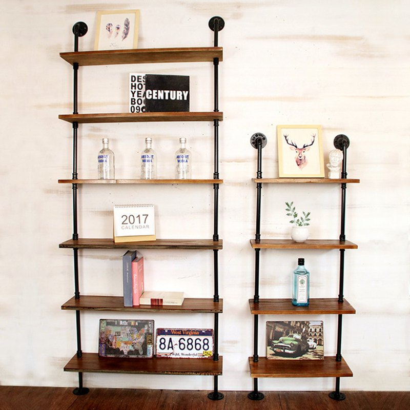 Valvelayer water pipe rack decorative frame wall hanging bookshelf size support custom