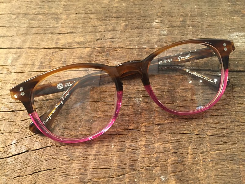 Absolute Vintage - Gough Street (Gough Street) pear-shaped plate frame glasses Young - Brown & Pink brown pink