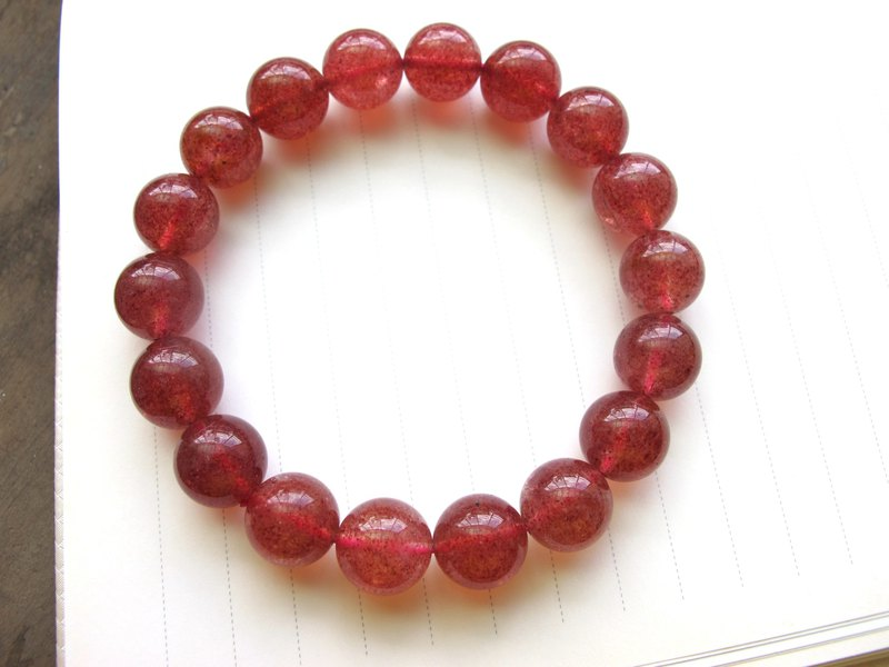 11.5mm Strawberry Crystal Hand Pearl [Sweet Strawberry] - Handmade Natural Stone Series