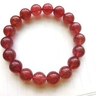 【Sweet strawberry】 11.5mm strawberry crystal hand beads - Handmade natural stone series
