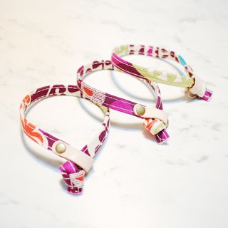 Cat Collars Purple Flower with colorful print, included Bell